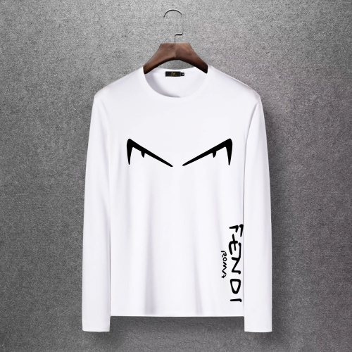 Fendi T-Shirts Long Sleeved O-Neck For Men #816672 $27.00, Wholesale Replica Fendi T-Shirts