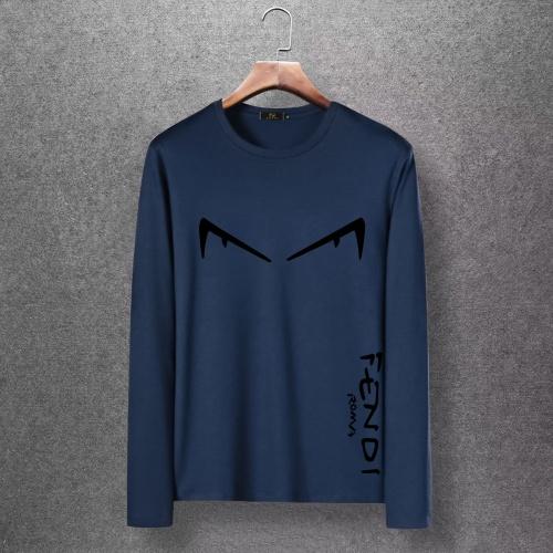 Fendi T-Shirts Long Sleeved O-Neck For Men #816673 $27.00, Wholesale Replica Fendi T-Shirts