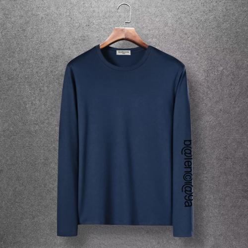 Balenciaga T-Shirts Long Sleeved O-Neck For Men #816677 $27.00, Wholesale Replica Balenciaga T-Shirts