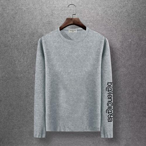 Balenciaga T-Shirts Long Sleeved O-Neck For Men #816678 $27.00, Wholesale Replica Balenciaga T-Shirts