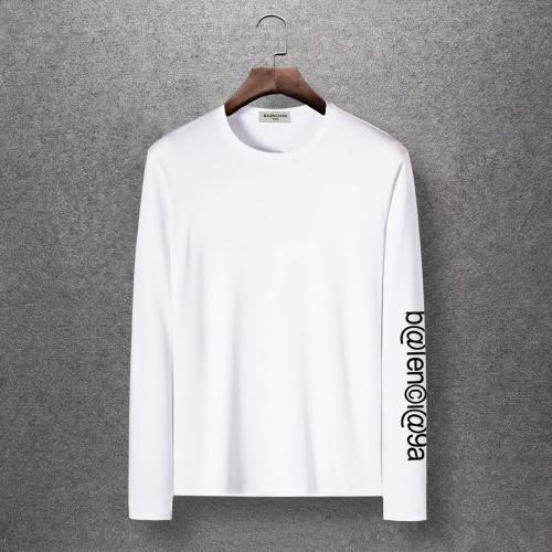 Balenciaga T-Shirts Long Sleeved O-Neck For Men #816679 $27.00, Wholesale Replica Balenciaga T-Shirts