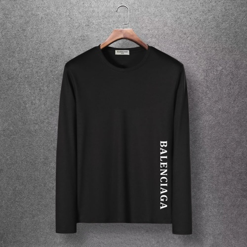 Balenciaga T-Shirts Long Sleeved O-Neck For Men #816681 $27.00, Wholesale Replica Balenciaga T-Shirts