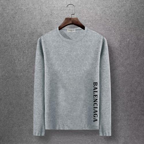 Balenciaga T-Shirts Long Sleeved O-Neck For Men #816683 $27.00, Wholesale Replica Balenciaga T-Shirts