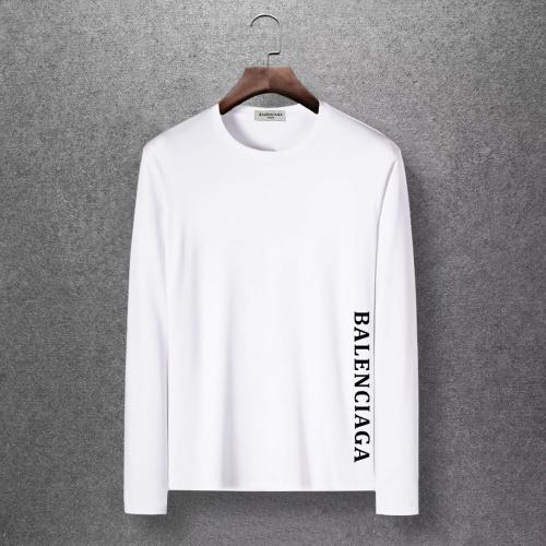 Balenciaga T-Shirts Long Sleeved O-Neck For Men #816684 $27.00, Wholesale Replica Balenciaga T-Shirts