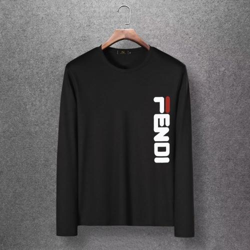 Fendi T-Shirts Long Sleeved O-Neck For Men #816691 $27.00, Wholesale Replica Fendi T-Shirts