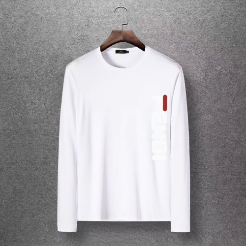 Fendi T-Shirts Long Sleeved O-Neck For Men #816693 $27.00, Wholesale Replica Fendi T-Shirts