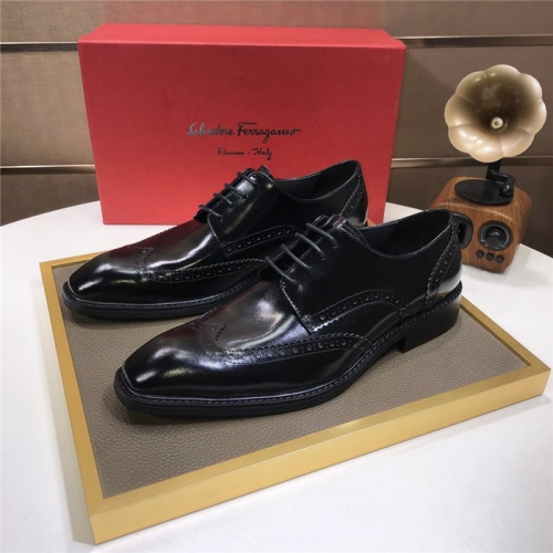 Ferragamo Salvatore FS Leather Shoes For Men #816739