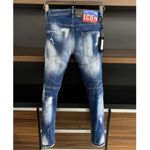 Dsquared Jeans Trousers For Men #816801 $60.00 USD, Wholesale Replica Dsquared Jeans