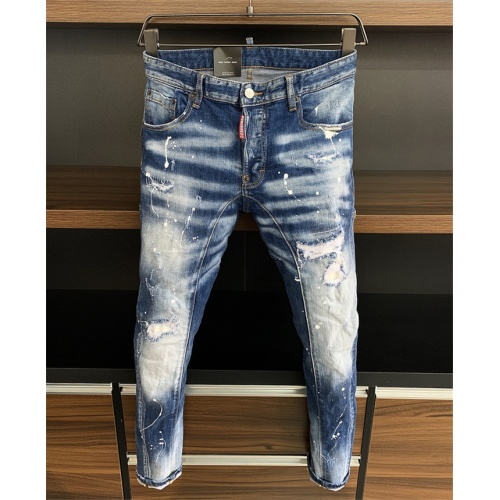 Replica Dsquared Jeans Trousers For Men #816801 $60.00 USD for Wholesale