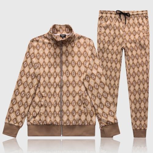 Fendi Tracksuits Long Sleeved Zipper For Men #817201