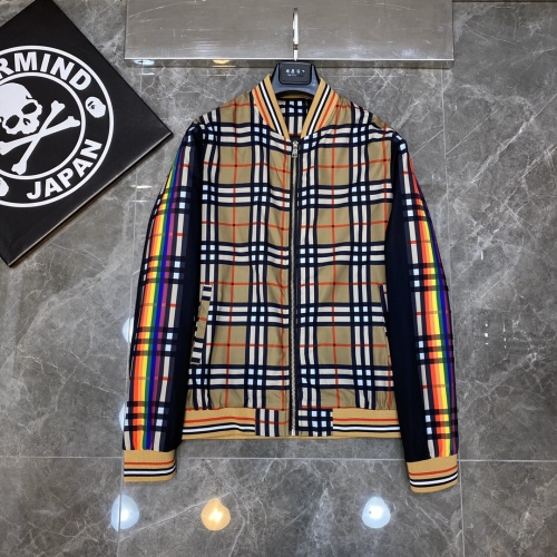 Burberry Jackets Long Sleeved Zipper For Men #817444