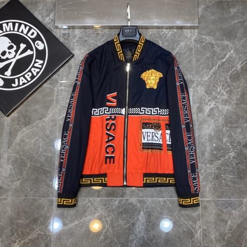 Versace Jackets Long Sleeved Zipper For Men #817449