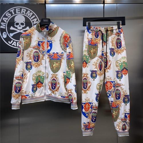 Dolce & Gabbana D&G Tracksuits Long Sleeved Zipper For Men #817458