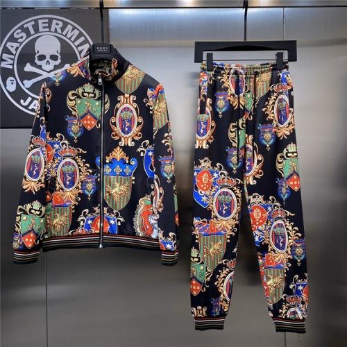 Dolce & Gabbana D&G Tracksuits Long Sleeved Zipper For Men #817459
