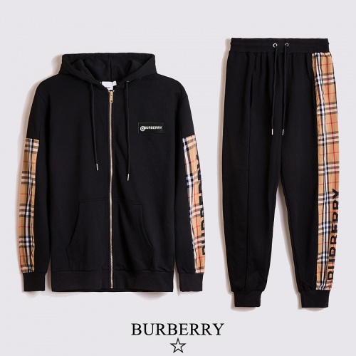 Burberry Tracksuits Long Sleeved Zipper For Unisex #817465