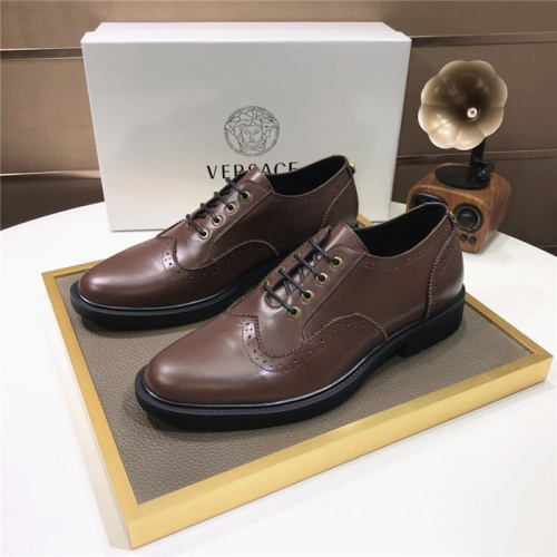 Versace Leather Shoes For Men #817561