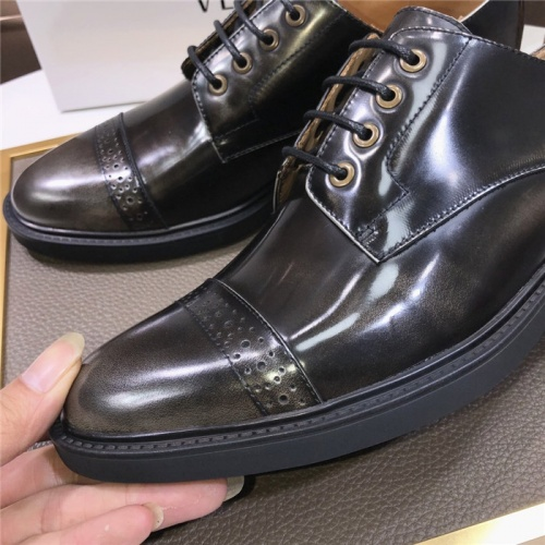 Replica Versace Leather Shoes For Men #817563 $102.00 USD for Wholesale