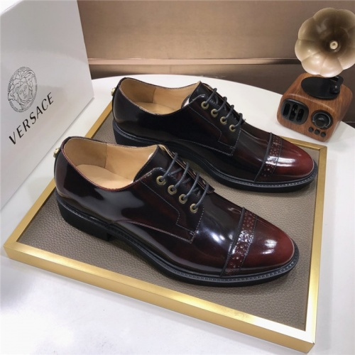 Versace Leather Shoes For Men #817565