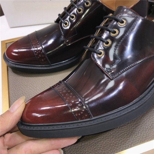Replica Versace Leather Shoes For Men #817565 $102.00 USD for Wholesale