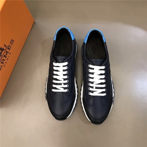 Replica Hermes Casual Shoes For Men #817597 $88.00 USD for Wholesale