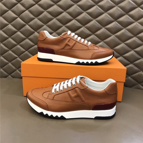 Replica Hermes Casual Shoes For Men #817598 $88.00 USD for Wholesale