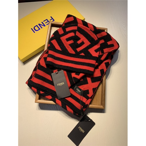 Fendi Scarf & Hat Set #818050 $44.00 USD, Wholesale Replica Fendi Scarf