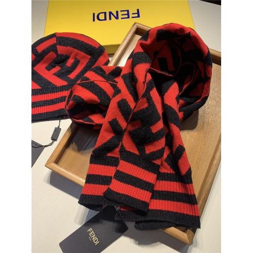Replica Fendi Scarf & Hat Set #818050 $44.00 USD for Wholesale