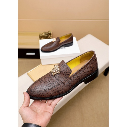 Replica Versace Leather Shoes For Men #818200 $80.00 USD for Wholesale