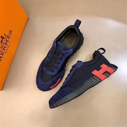 Replica Hermes Casual Shoes For Men #818238 $76.00 USD for Wholesale