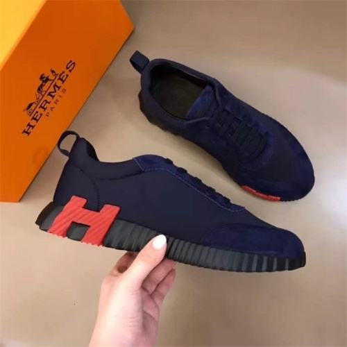Replica Hermes Casual Shoes For Men #818239 $76.00 USD for Wholesale