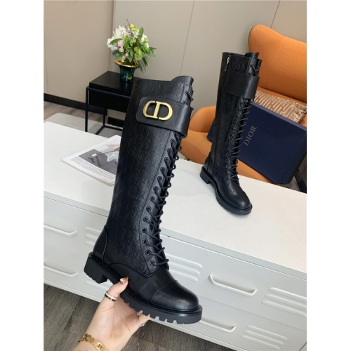 Replica Christian Dior Boots For Women #818304 $135.00 USD for Wholesale