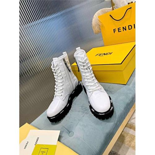 Replica Fendi Fashion Boots For Women #818321 $115.00 USD for Wholesale