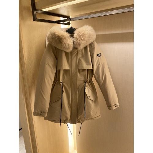 Prada Down Feather Coat Long Sleeved Zipper For Women #818529