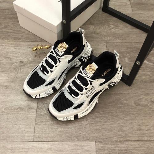 Versace Casual Shoes For Men #818535 $80.00 USD, Wholesale Replica Versace Casual Shoes