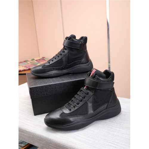 Prada High Tops Shoes For Men #818579