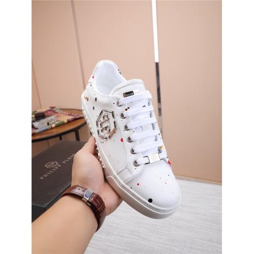 Replica Philipp Plein PP Casual Shoes For Men #818592 $80.00 USD for Wholesale