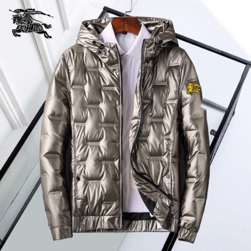 Burberry Down Feather Coat Long Sleeved Zipper For Men #818655
