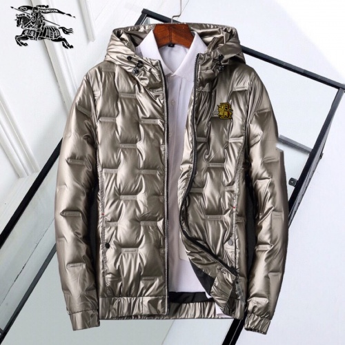 Burberry Down Feather Coat Long Sleeved Zipper For Men #818658