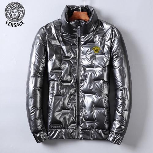 Versace Down Coat Long Sleeved Zipper For Men #818659