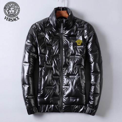 Versace Down Coat Long Sleeved Zipper For Men #818660