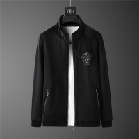 $98.00 USD Versace Tracksuits Long Sleeved Zipper For Men #813456