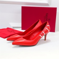 $80.00 USD Valentino High-Heeled Shoes For Women #814389