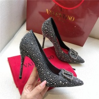$80.00 USD Valentino High-Heeled Shoes For Women #814392