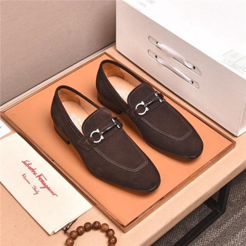 Ferragamo Salvatore FS Leather Shoes For Men #818936