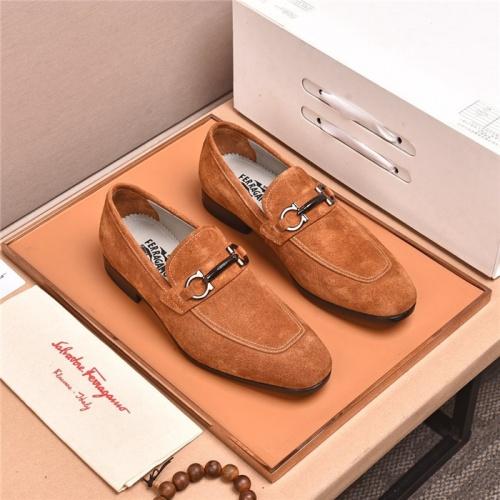 Ferragamo Salvatore FS Leather Shoes For Men #818937