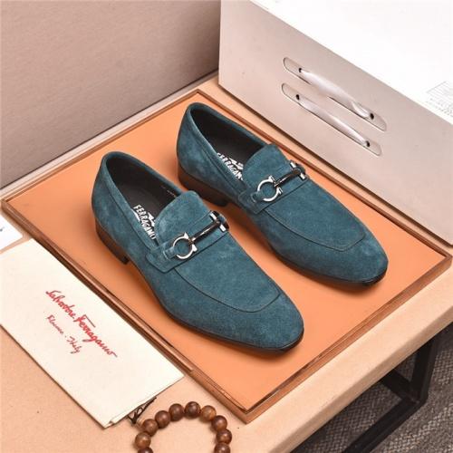 Ferragamo Salvatore FS Leather Shoes For Men #818938