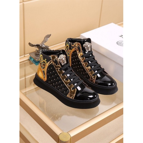 Versace High Tops Shoes For Men #819025