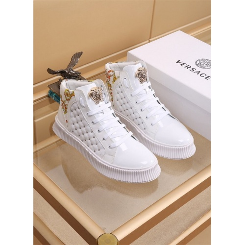Versace High Tops Shoes For Men #819026