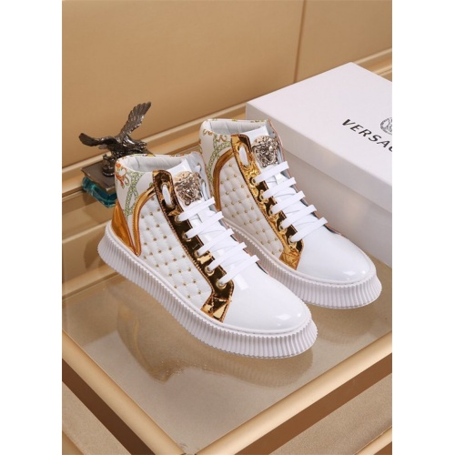 Versace High Tops Shoes For Men #819027