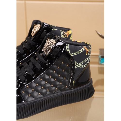 Replica Versace High Tops Shoes For Men #819028 $80.00 USD for Wholesale